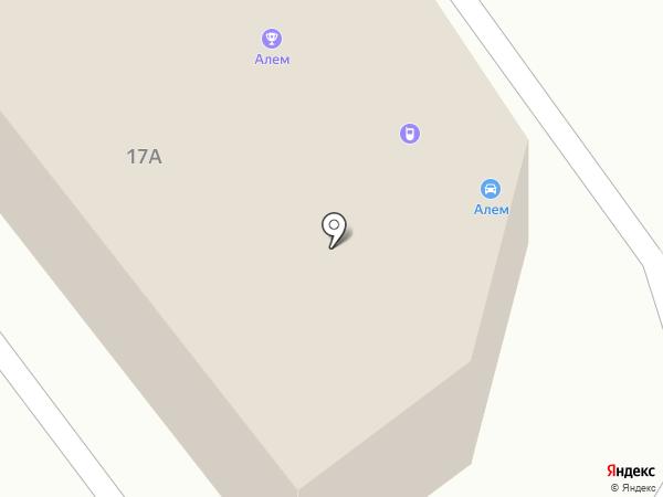 Алем на карте Караганды