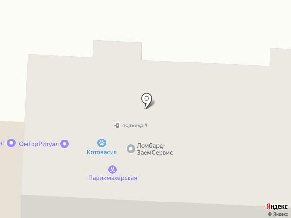 Котовасия на карте Омска