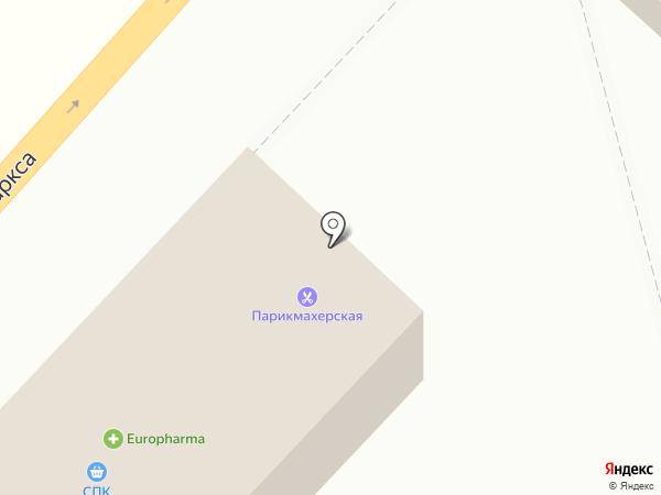 Магазин хлебобулочных изделий на карте Караганды