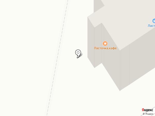 Ласточка на карте Караганды