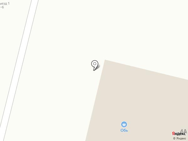 Обь на карте Белого Яра