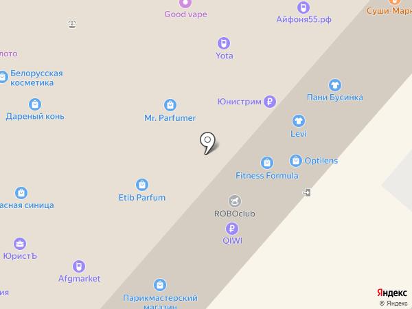Yota на карте Омска