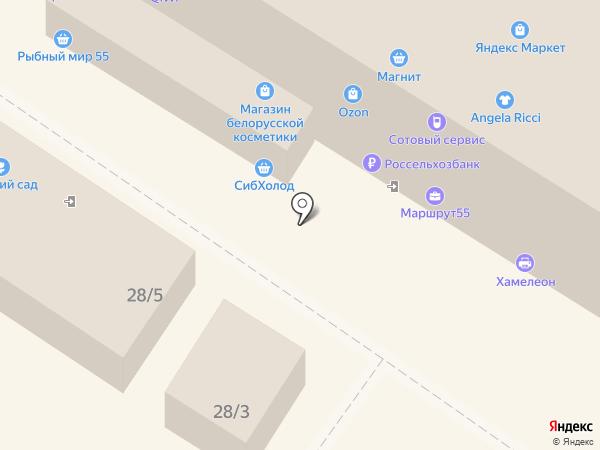 Служба отогрева и запуска автомобилей на карте Омска