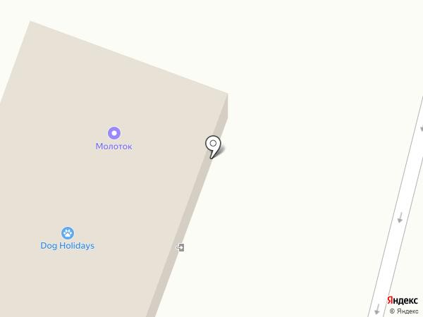 Молоток на карте Троицкого