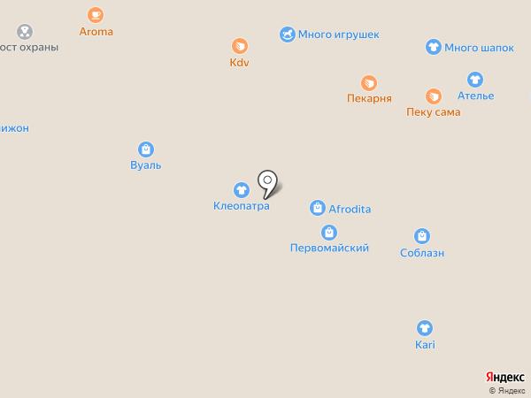 Магазин верхней одежды на карте Омска