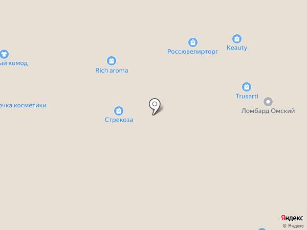 Магазин чулочно-носочных изделий на карте Омска