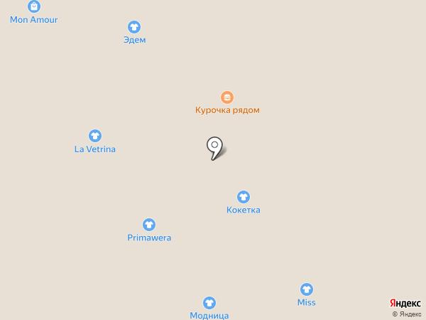 Кокетка на карте Омска