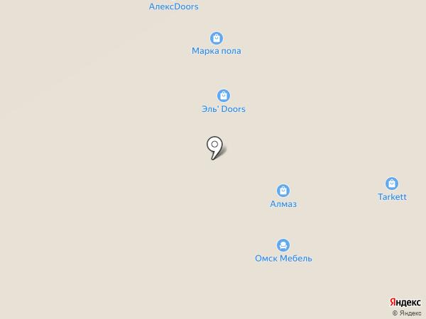 Алмаз на карте Омска