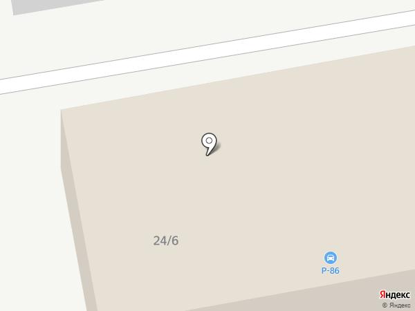 Р86 на карте Сургута