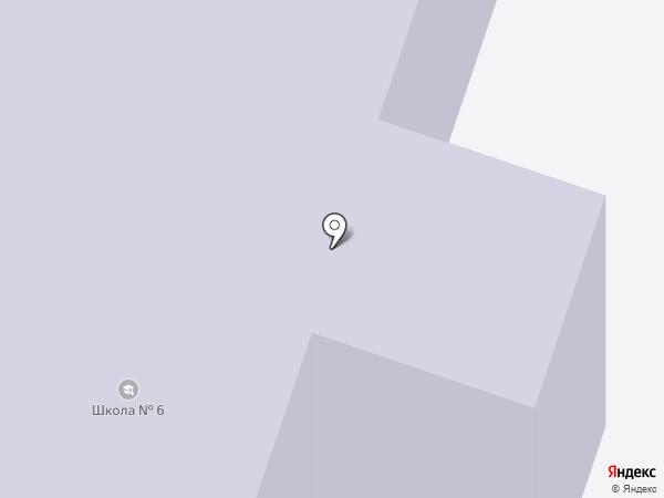 Средняя общеобразовательная школа №6 на карте Сургута