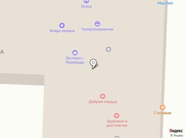 Воздушный шар на карте Омска