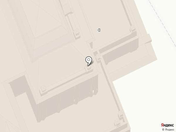 Омский государственный академический театр драмы на карте Омска