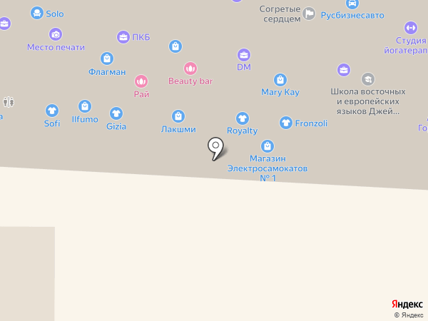 Бутик женской одежды на карте Омска