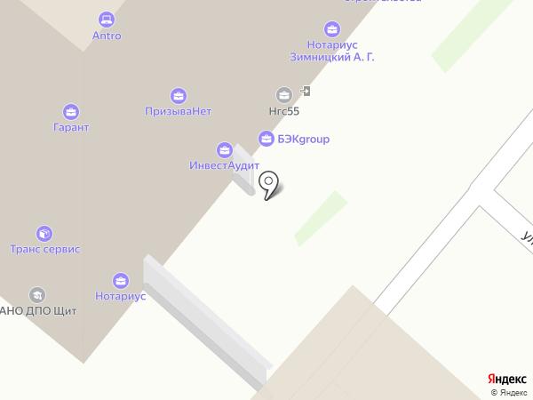 Мотосад на карте Омска