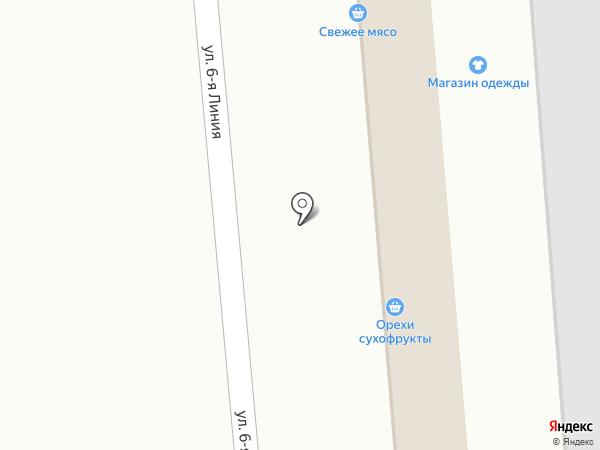 Магазин овощей и фруктов на карте Омска