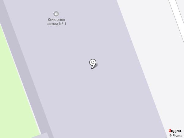 Вечерняя открытая общеобразовательная школа №1 на карте Сургута