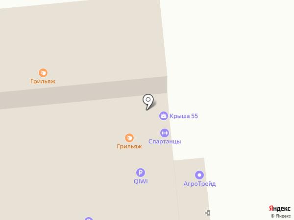 Пятерочка на карте Омска