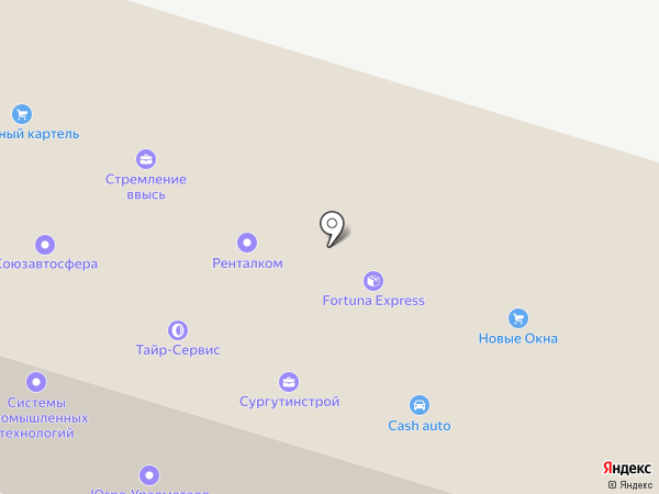 Асу-Сургут на карте Сургута