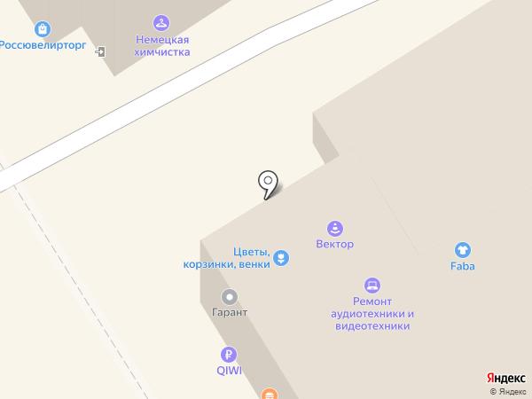 Вектор на карте Омска