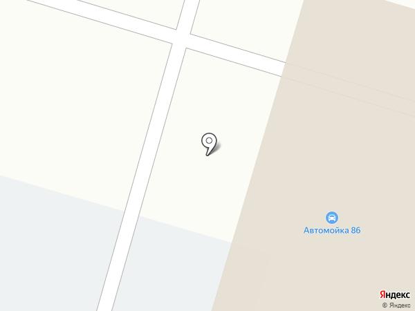 Автомойка 86 на карте Сургута