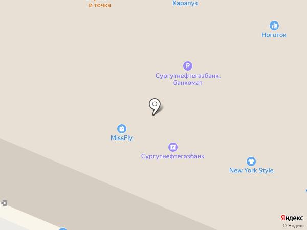 Мягкое золото на карте Сургута
