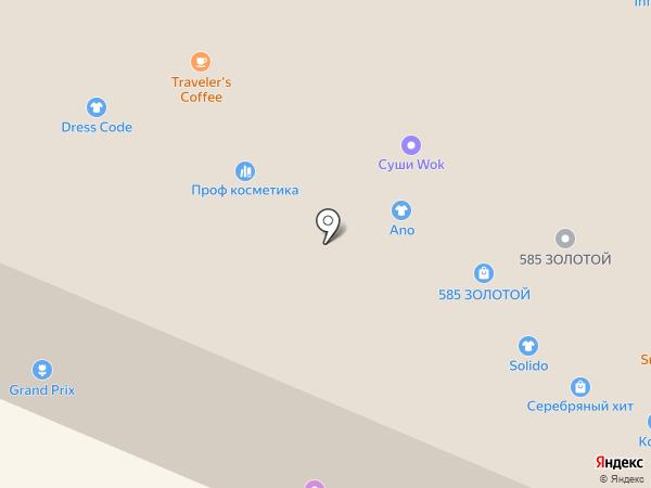 Колье на карте Сургута