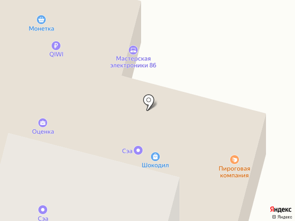 Пироговая на карте Сургута