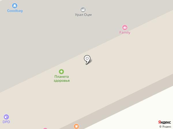 Галатея на карте Сургута