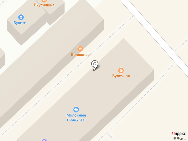 Сеть магазинов кондитерских изделий на карте Омска
