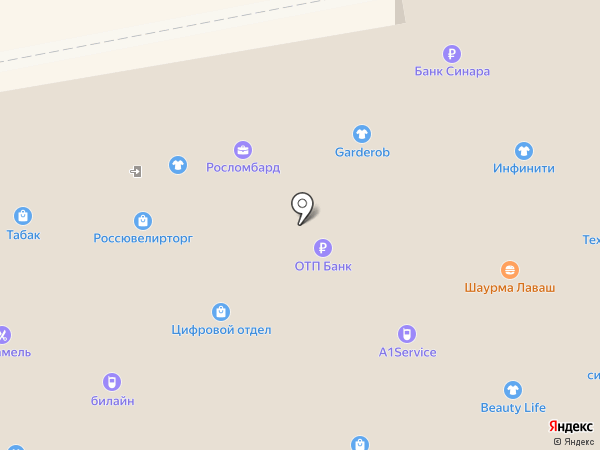 Виола на карте Омска