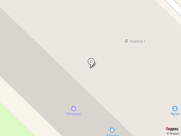Силуэт на карте Муравленко