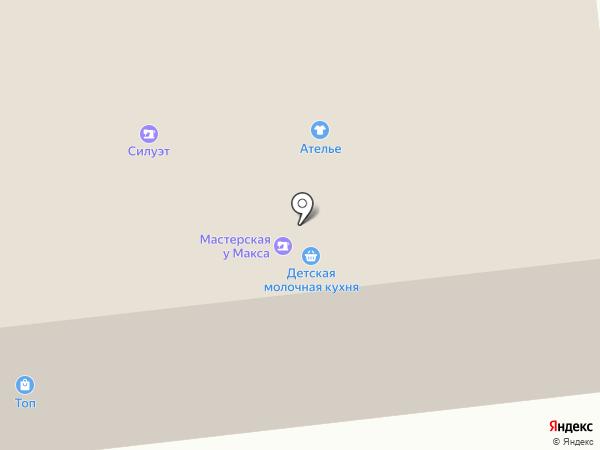 Силуэт на карте Ноябрьска