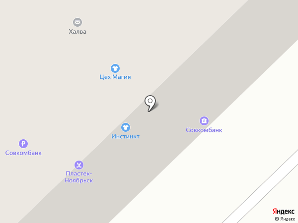 АКБ Югра на карте Ноябрьска