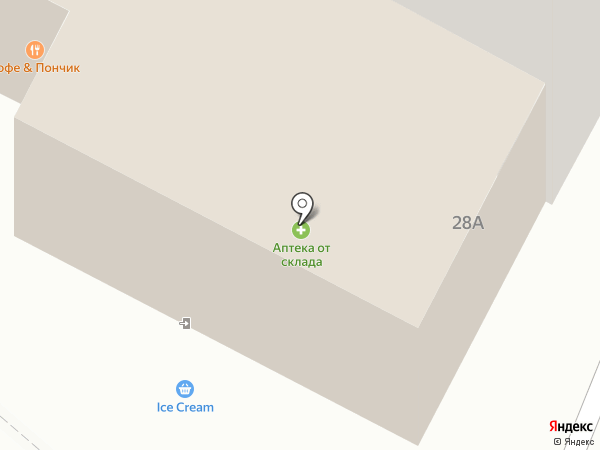 Аптека от склада на карте Ноябрьска