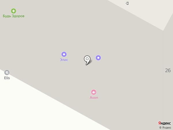 Элис на карте Ноябрьска