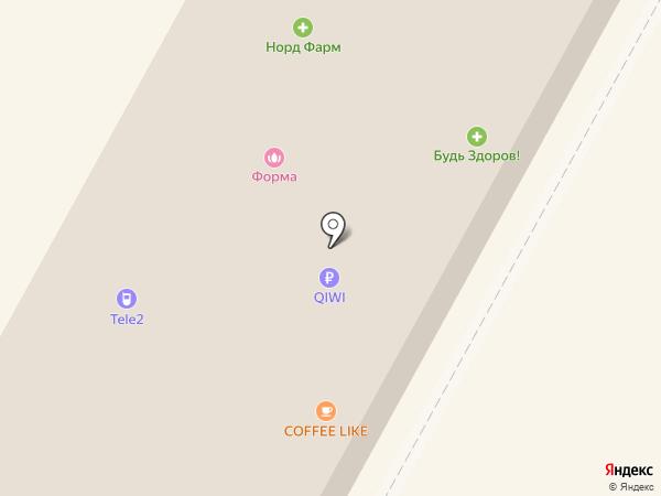 Юкон на карте Ноябрьска