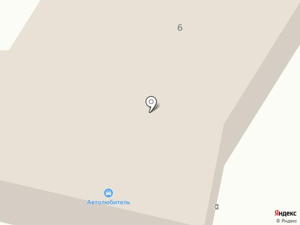 Автолюбитель на карте Мегиона