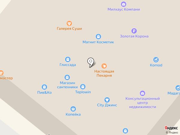 Мегионская мебель на карте Мегиона