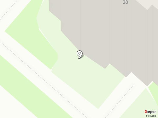 Сияние севера на карте Мегиона