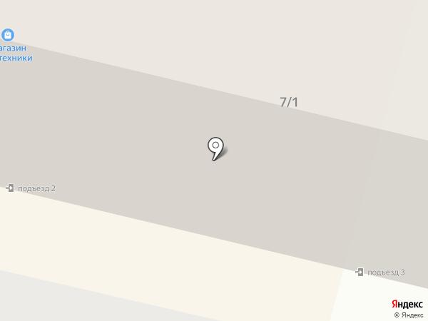 Магазин тканей и фурнитуры на карте Мегиона