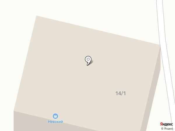 Невский на карте Мегиона