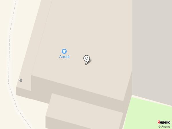 Антей на карте Мегиона