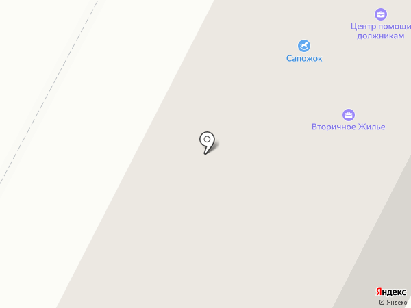 Сапожок на карте Нижневартовска
