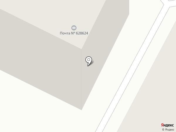 Почтовое отделение №24 на карте Нижневартовска