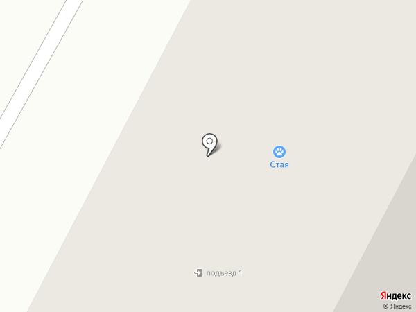 Белая акация на карте Нижневартовска