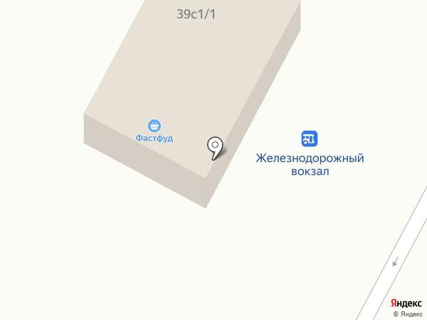 Киоск по продаже фастфудной продукции на карте Нижневартовска
