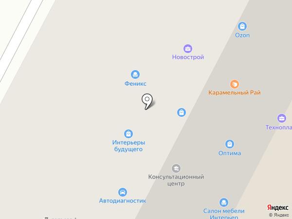 Данцер на карте Нижневартовска