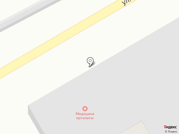 Автомойка на ул. Райымбека на карте Таусамалы