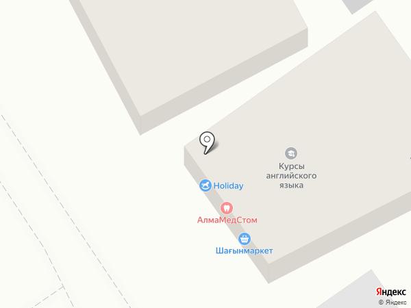 Алма Тау на карте Алматы