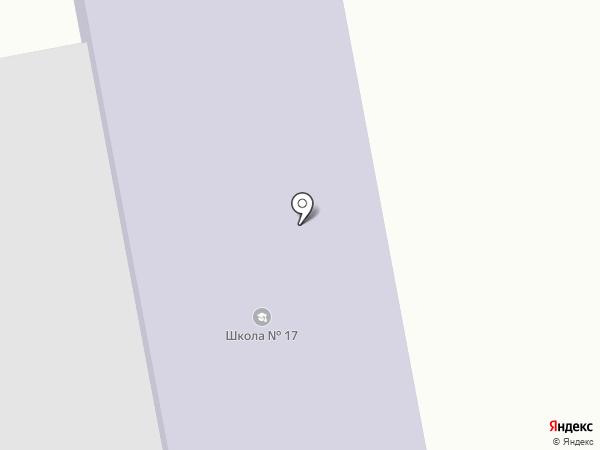 Общеобразовательная школа №17, пос. Боралдай на карте Боралдая